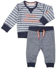 Dirkje chlapecký kojenecký set s pruhovanou mikinou