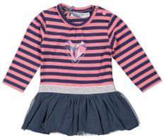 Dirkje dívčí šaty s pruhy a tylem