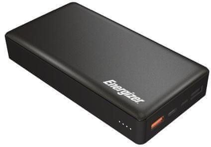 Energizer 20000mAh Quick Charge 3.0 Power Bank, Dual Input Type-C, Dual output USB-C+2xUSB-A, černý UE20015CQ - použité