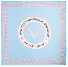 VERSACE 19.69 dámský světle modrý šátek Miss Success