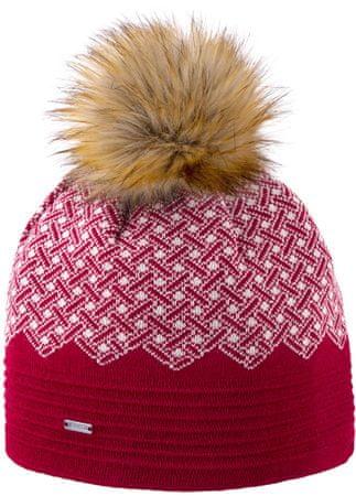 Kama pletena merino kapa Kama A130, rdeča