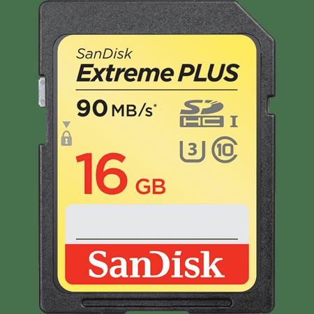 SanDisk pomnilniška kartica SDHC Extreme PLUS, 16 GB, UHS-I (SDSDXSF-016G-GNCIN)