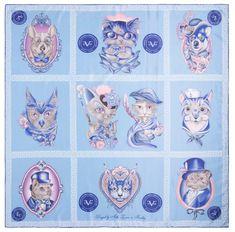 VERSACE 19.69 Cat Wow! női kék kendő