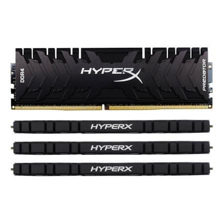 Kingston pomnilnik (RAM) HX Predator DDR4, 64GB (4×16GB), PC3200 (HX432C16PB3K4/64)