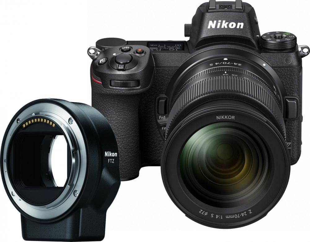 Nikon Z6 + 24-70 mm + FTZ adaptér (VOA020K003)