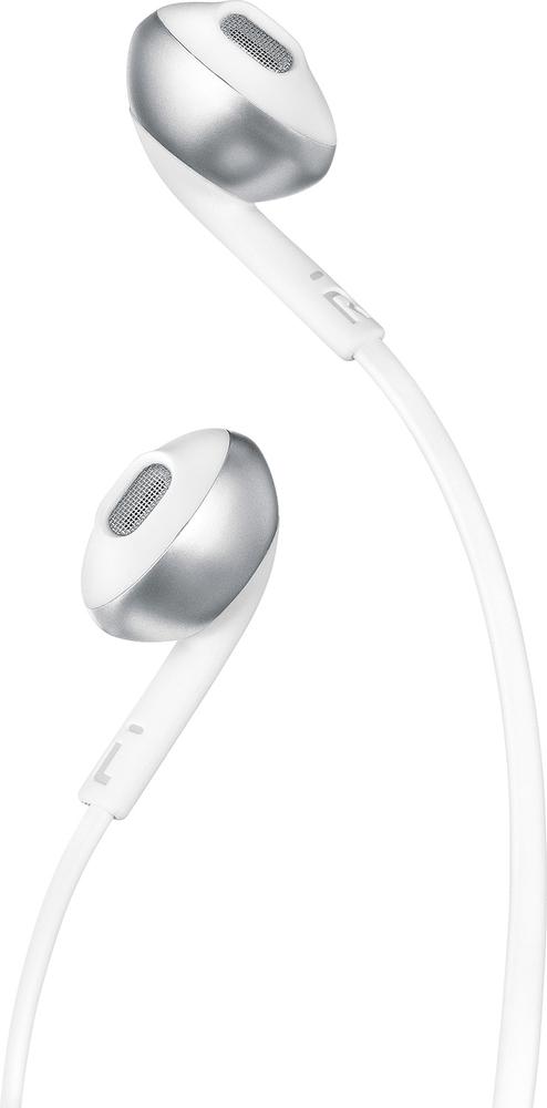 JBL T205BT bezdrátová sluchátka, stříbrná