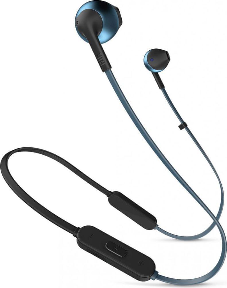 JBL T205BT bezdrátová sluchátka, modrá