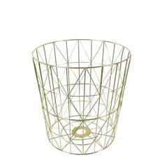 Danish Style Odpadkový koš kovový Basket, 38 cm, zlatá