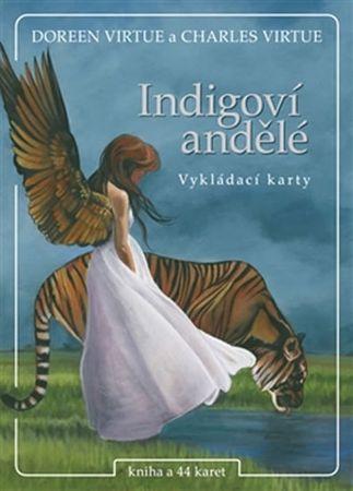 Virtue Doreen: Indigoví andělé - kniha + 44 karet