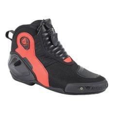 Dainese kotníkové moto boty  DYNO D1 černá/fluo-červená, kůže (pár)
