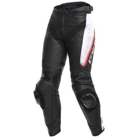Dainese kalhoty dámské DELTA 3 LADY vel.38 černá/bílá/červená, kůže