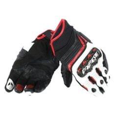 Dainese pánské sport moto rukavice  CARBON D1 SHORT černá/bílá/červená, kůže (pár)