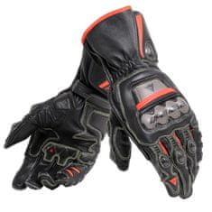 Dainese pánské rukavice na motorku  FULL METAL 6 černá/fluo červená