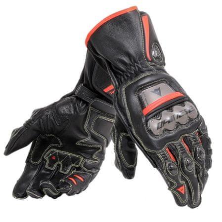 Dainese pánske rukavice na motorku  FULL METAL 6 vel.S čierna/fluo červená