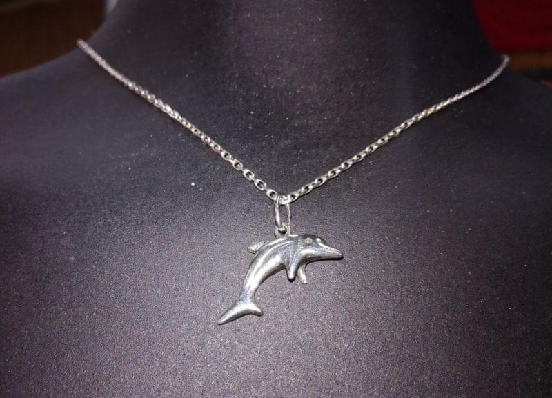 Přívěsek Delfín stříbrný