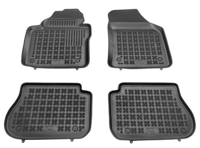 REZAW-PLAST Gumové koberce, černé, sada 4 ks (2x přední, 2x zadní), VW Caddy od r. 2003, Caddy