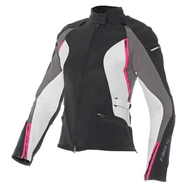 Dainese dámská bunda ARYA TEX LADY vel.46 černá/šedá/růžová, textil