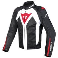 Dainese pánska moto bunda  HYPER Flux D-DRY biela/čierna/červená, textilné