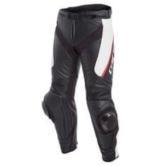 Dainese pánské kožené moto kalhoty  DELTA 3 černá/bílá/červená