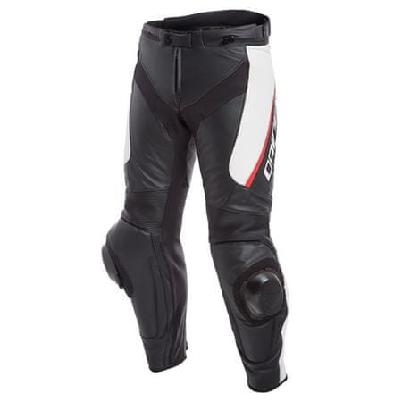 Dainese kalhoty DELTA 3 vel.48 černá/bílá/červená, kůže