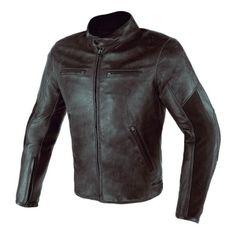Dainese pánska kožená moto bunda  STRIPES D1 hnedá