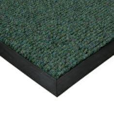 FLOMAT Zelená textilní zátěžová čistící vnitřní vstupní rohož Catrine, FLOMAT - 1,35 cm