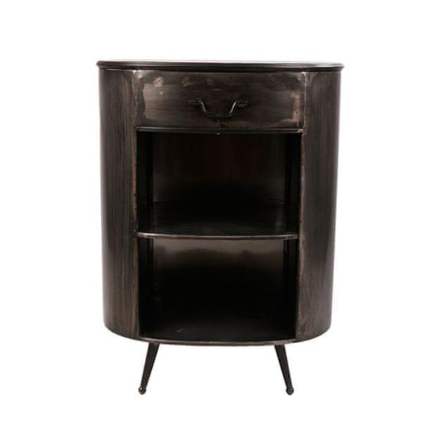 Danish Style Kovový noční stolek se zásuvkou Empire, 76 cm