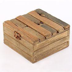 Danish Style Úložná krabice s víkem dřevěná Maritime, 12 cm