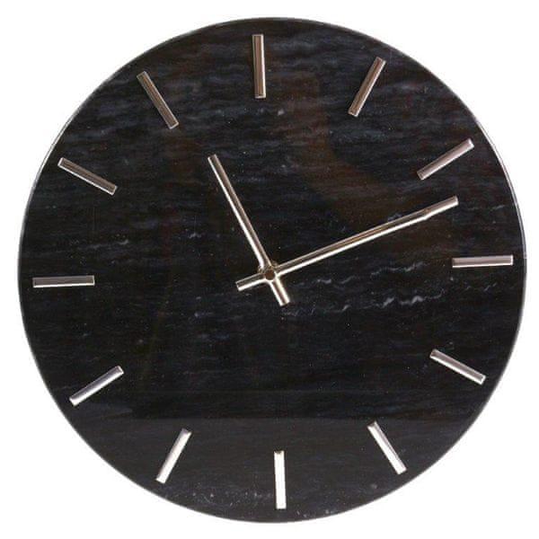 Danish Style Nástěnné hodiny Mramor, 30 cm, černá
