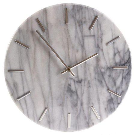 Danish Style Nástěnné hodiny Mramor, 30 cm, bílá