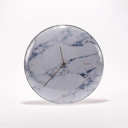 Danish Style Nástěnné hodiny Skynda, 35 cm, bílý mramor