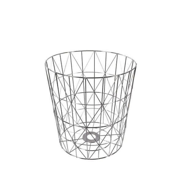Danish Style Odpadkový koš kovový Basket, 38 cm, stříbrná