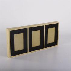 Danish Style Nástěnný rámeček pro 3 fotky Frame, 52 cm, černá