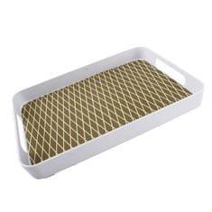 Danish Style Melaminový podnos Squares, 50 cm, bílá/zlatá
