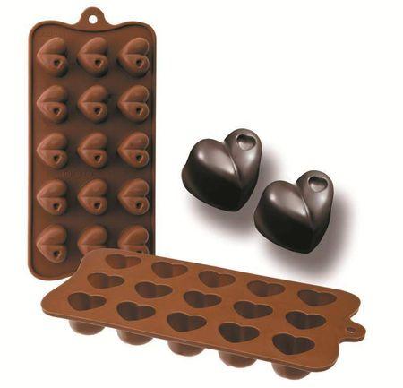 Ibili Formičky na čokoládu srdce 10,5x21cm