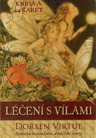 Virtue Doreen: Léčení s vílami - kniha a 44 karet