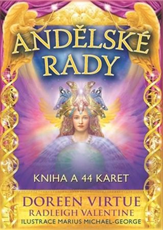 Virtue Doreen, Valentine Radleigh,: Andělské rady - Kniha a 44 karet