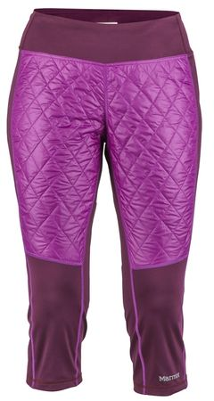 Marmot ženske športne hlače Wm's Toaster Capri Dark Purple/Grape, XS, temno vijolične