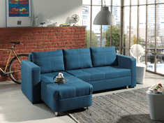 Rohová sedačka MANHATTAN, modrá látka