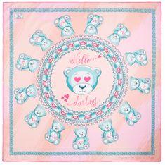 VERSACE 19.69 dámský růžový šátek Hello Darling