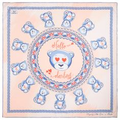 VERSACE 19.69 dámský oranžový šátek Hello Darling