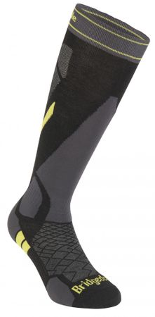 Bridgedale Ski Lightweight Black/Lime/137 M