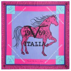 VERSACE 19.69 dámský růžový šátek Amazona