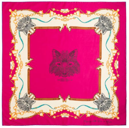 VERSACE 19.69 ženski šal Foxy Girl, roza