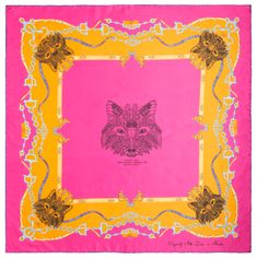 VERSACE 19.69 Foxy Girl női rózsaszín sál