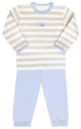 Nini piżama z koszulką chłopięca 80 beżowy/niebieski