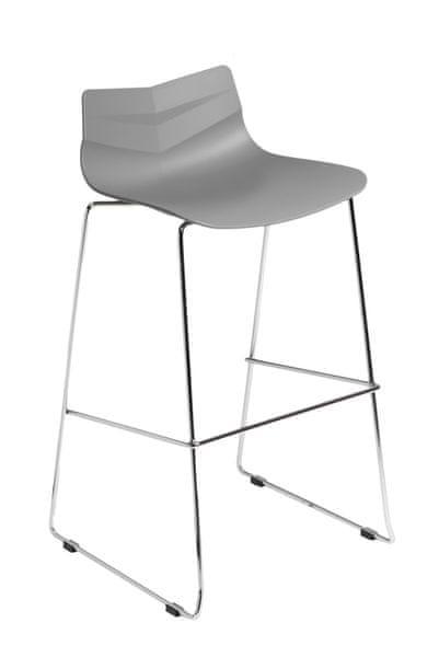 Mørtens Furniture Barová židle Limone, šedá