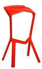 Mørtens Furniture Barová židle Mand, červená