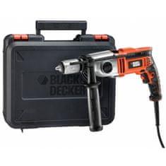 Black+Decker dvohitrostni udarni vrtalnik, 750 W + set (KR7532KA)