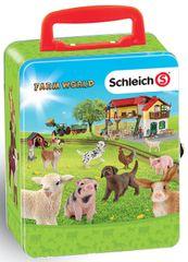 Klein blaszany kuferek Schleich - zwierzęta